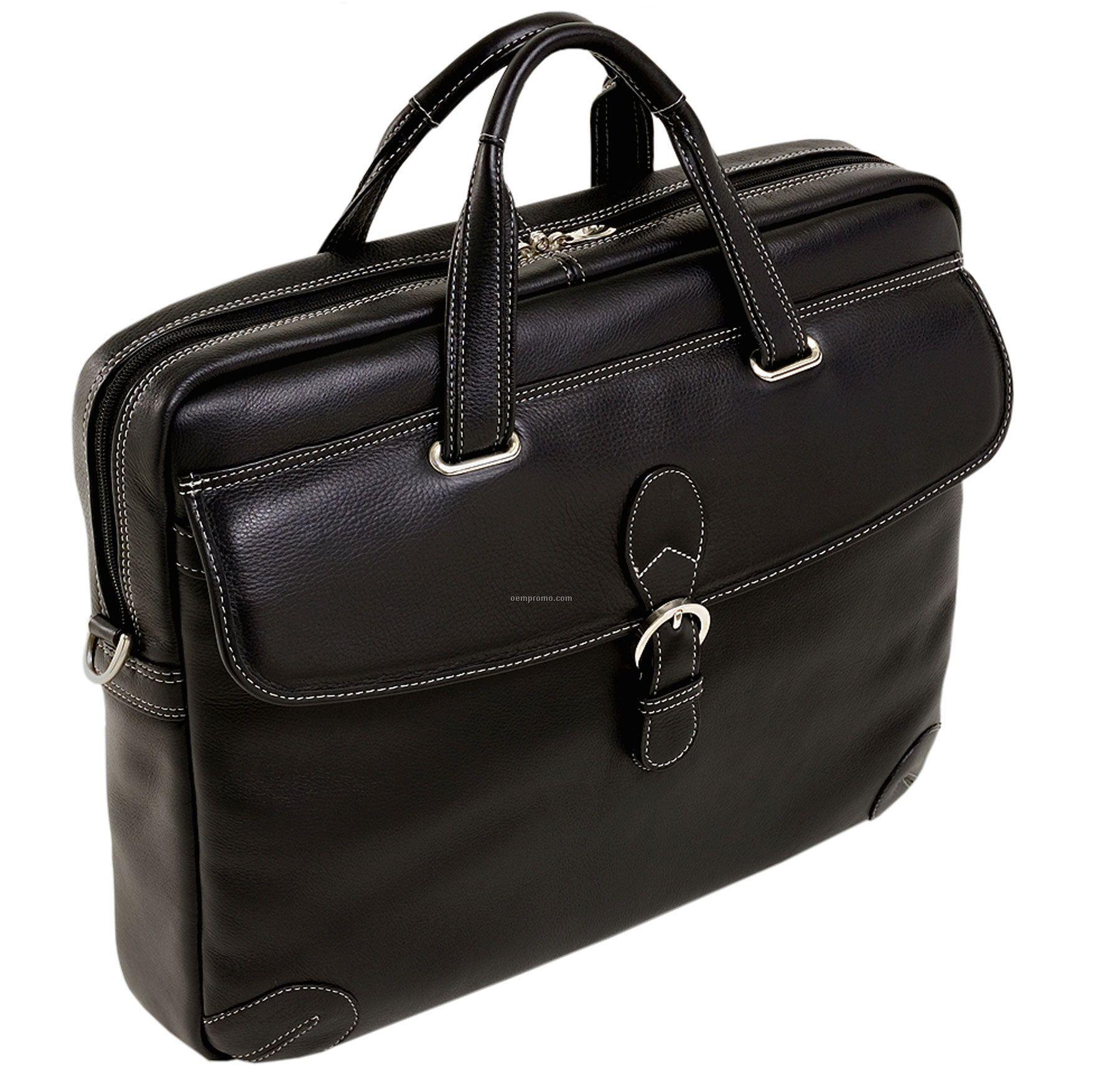 Borella Leather Netbook Laptop Case - Black
