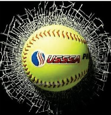 Break Thru Static Cling Window Decal - Softball