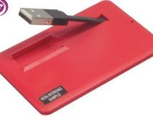 Credit Card Size Flash Drive W/ Pull Out USB