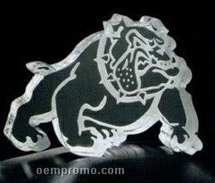 Frost Edge Bulldog Acrylic Paperweight (Up To 12 Square Inch)