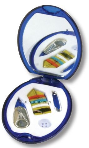 Oval Sewing Kit W/ Mirror - 1 Color