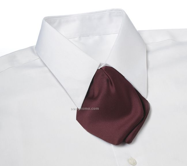 Wolfmark Polyester Satin Adjustable Band Tulip Bow Tie - Maroon
