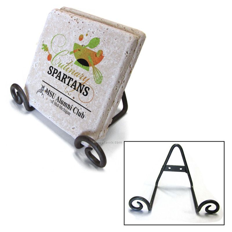 Wrought Iron Decorative Easel - Coaster Holder / Trivet Holder
