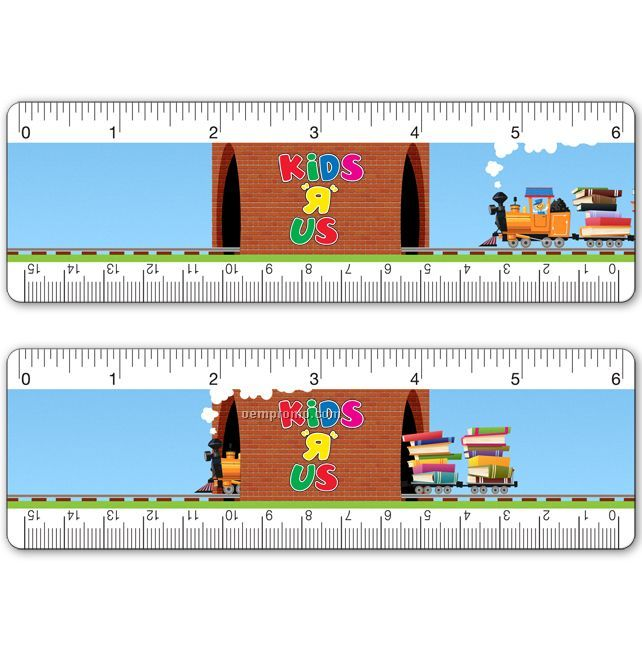 """6"""" Ruler, Custom Four Color Lenticular Design, Custom Images And Effects"""