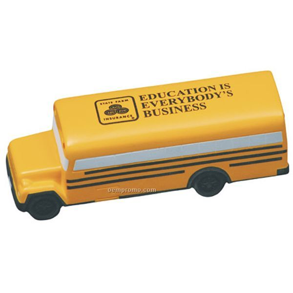 Conventional School Bus Squeeze Toy