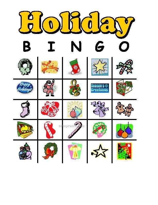 Holiday Or Custom Bingo Game Cards
