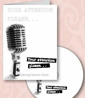 Your Attention Please Announcement Greeting Card With Matching CD