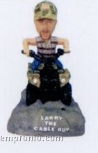 "3.5"" Custom Talking Bobble Head Doll W/ Custom Color Print Box & Clamshell"