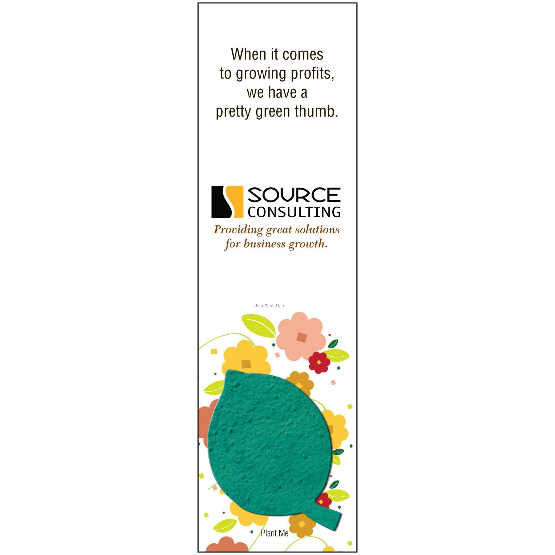 Seed Paper Bookmark Garden Party