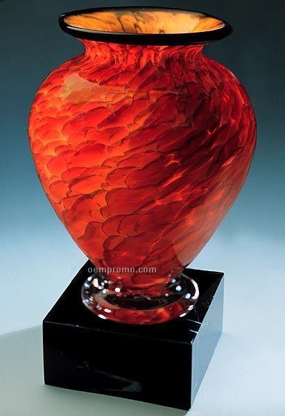 "Suncloud Cauldron Vase W/ Marble Base (5.5""X9.75"")"