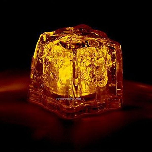 yellow 3 function light up ice cube