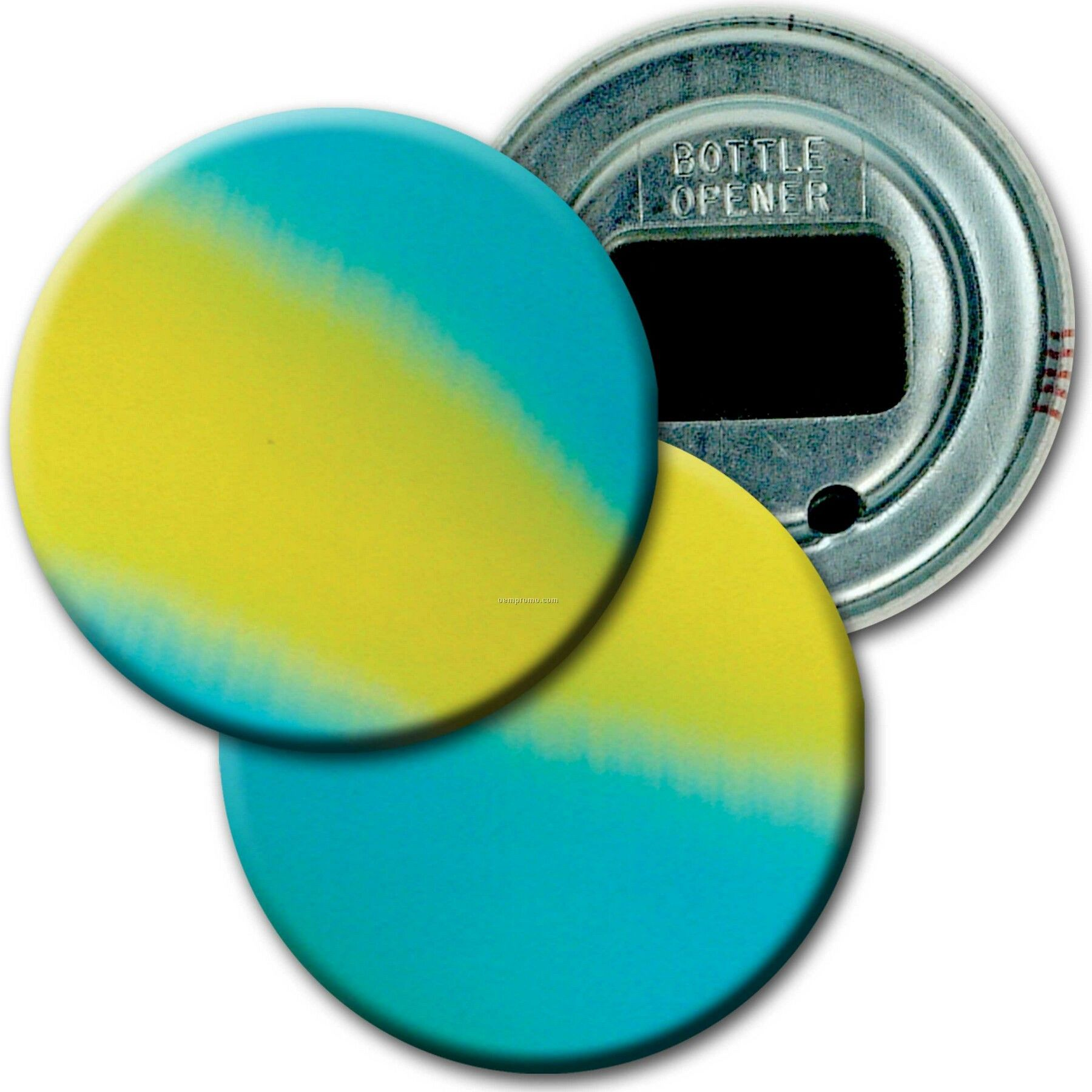 "2"" Diameter Round Bottle Opener W/ 3d Lenticular Images ( Blanks)"
