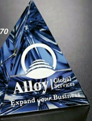 """Crystal Illumachrome Pyramid Award (3""""X3 1/4""""X3"""")"""