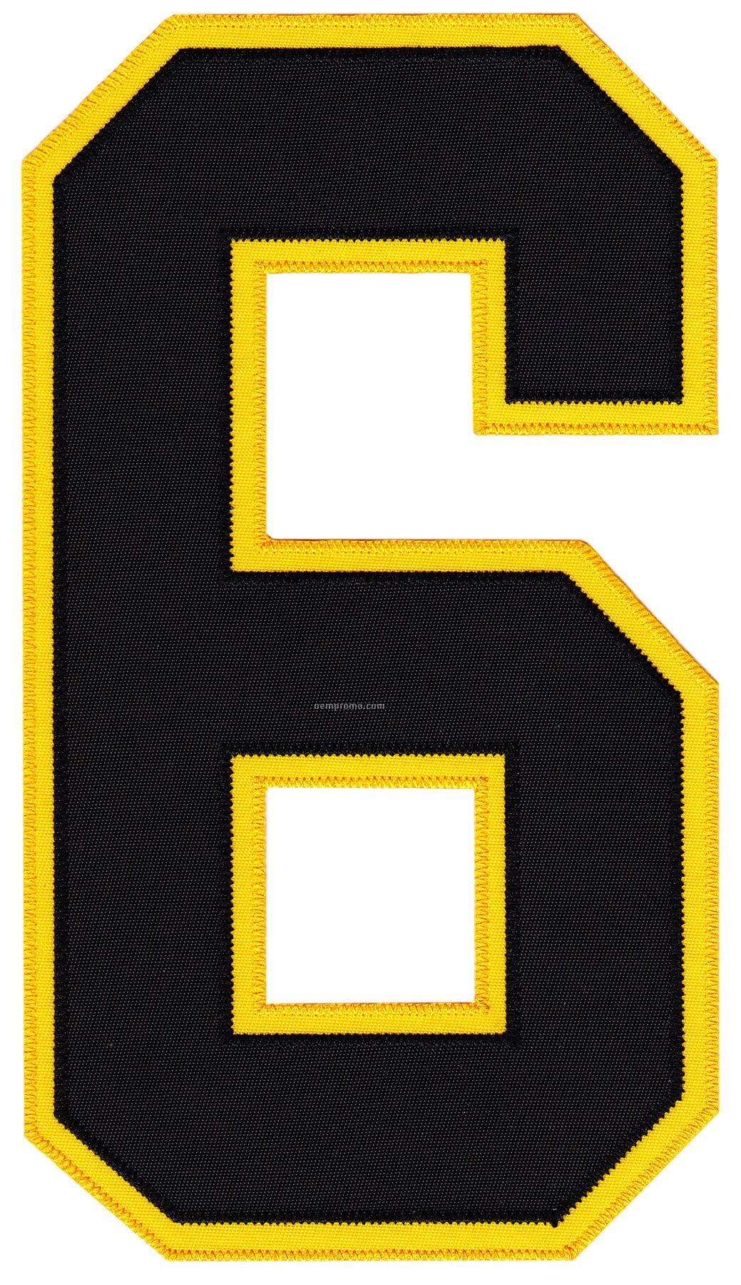 """""""Real Stitch"""" Tackle Twill Numbering And Lettering"""