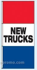Single Face Stock Message Interceptor Drape Flags - New Trucks