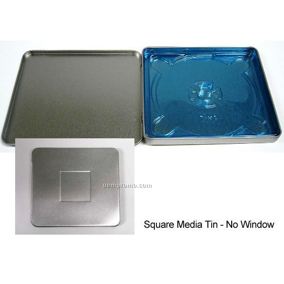 Square CD Tin