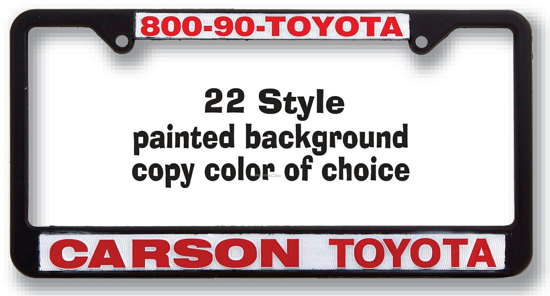 Standard Raised Copy Plastic License Plate Frame