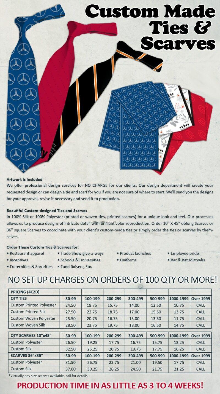 Custom Printed Silk Scarves (36