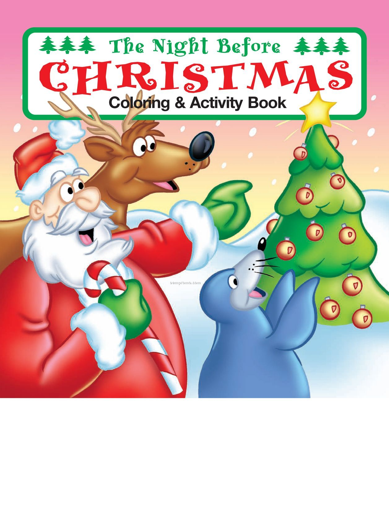 The Night Before Christmas Coloring Book Fun Pack