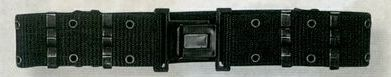 Black X-large Gi Nylon Pistol Belt With Quick Release