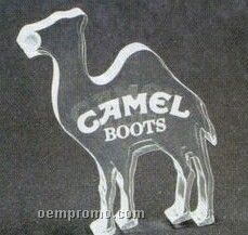 Camel Acrylic Paperweight (Up To 12 Square Inch)