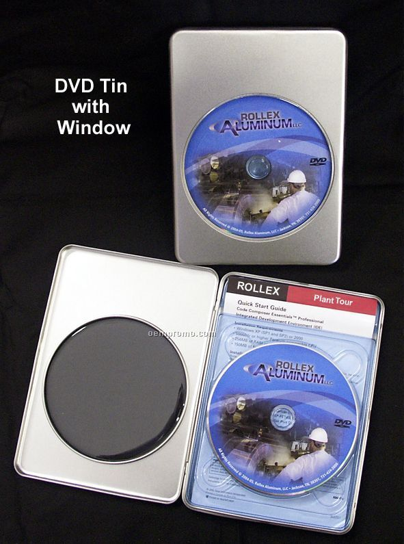 Deluxe DVD Tin (With Or Without Window)