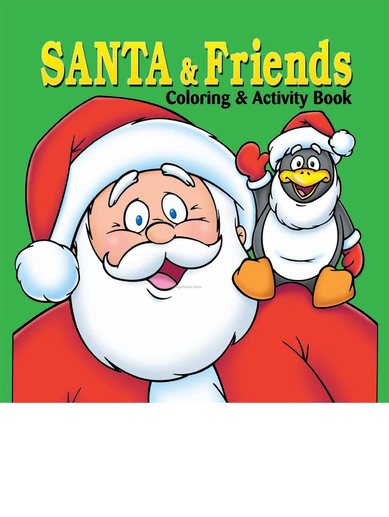 Santa & Friends Coloring Book