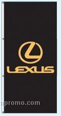 Single Face Dealer Interceptor Drape Flags - Lexus