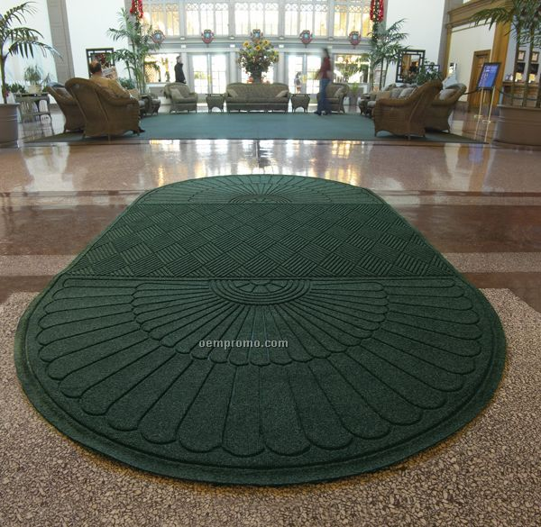 Waterhog Eco Grand Premier Indoor / Outdoor Mat - 2 Round Ends (4'x12.4')