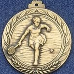 "2.5"" Stock Cast Medallion (Tennis/ Female)"