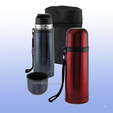 3 Pcs Stainless Travel Bottle W/ Zipper Case
