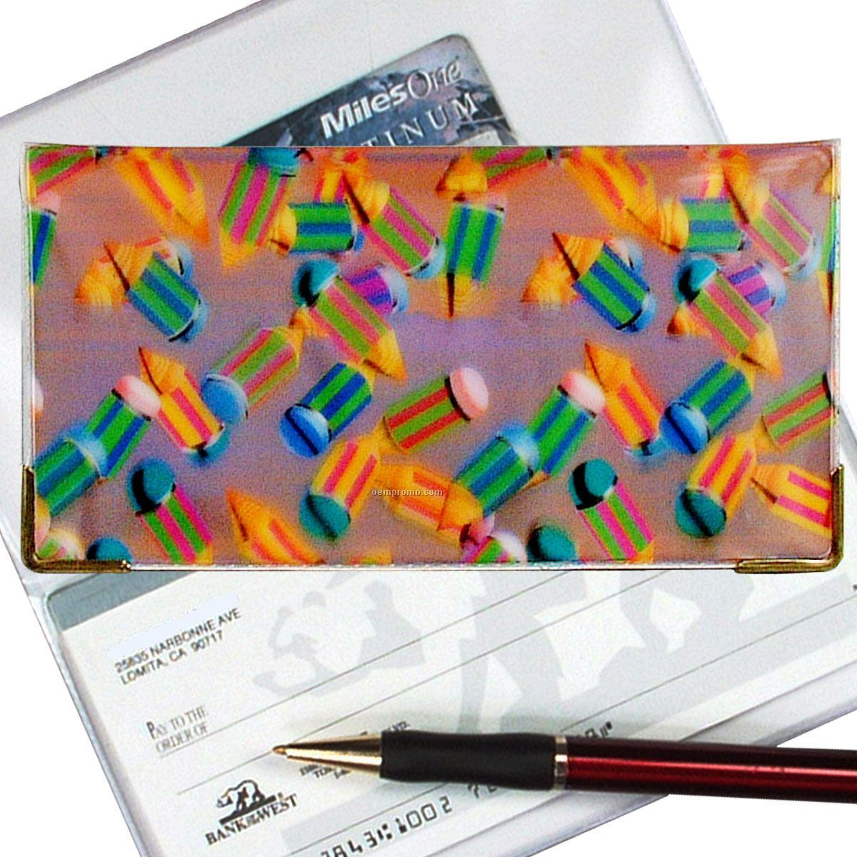 3d Lenticular Checkbook Cover (Pencils)