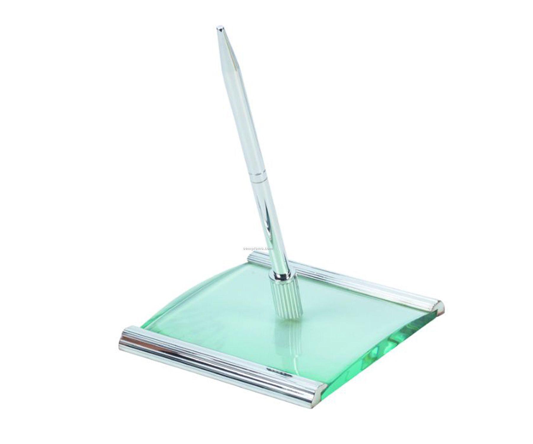 Glass Desk Pen Stand