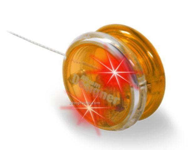 Orange Light Up Yo-yo W/ Orange LED