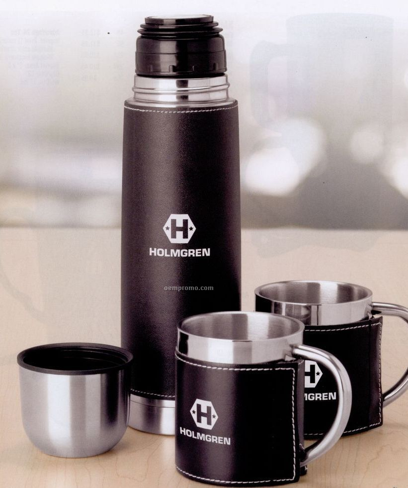 Stainless Steel Flask And Cup Travel Set