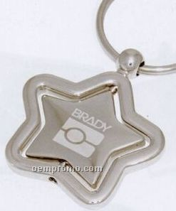 Star Keychain W/ Spinner Centerpiece (7-12 Days)