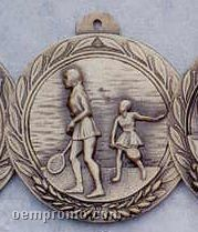 "2.5"" Stock Cast Medallion (Tennis/ Female Doubles)"