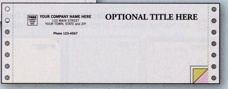 """3 Part Classic Multipurpose Form (8 1/2""""X3 1/2"""")"""