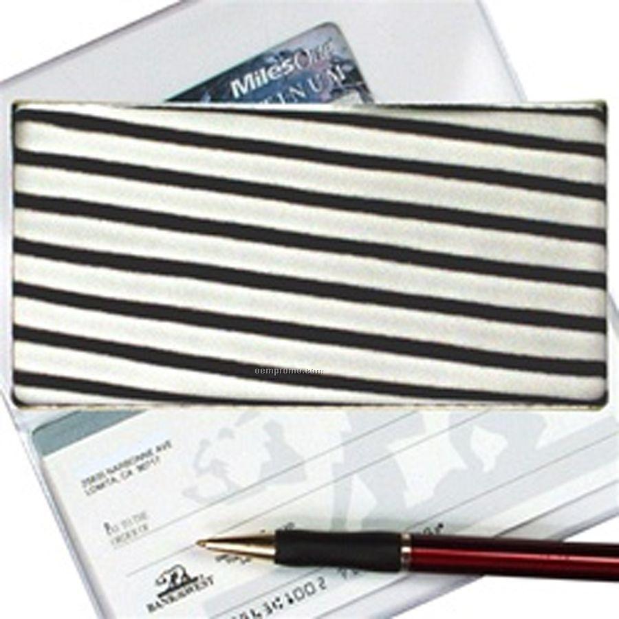Black/White 3d Lenticular Checkbook Cover (Stripes)