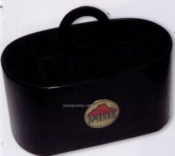 Leatherette Basket Organizer