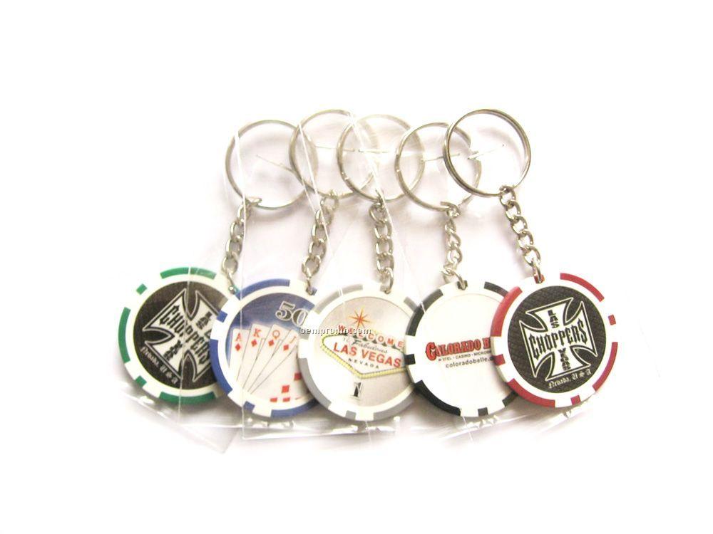 Poker Chip Key Chain 1