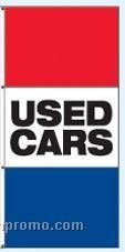Single Face Stock Message Interceptor Drape Flags - Used Cars