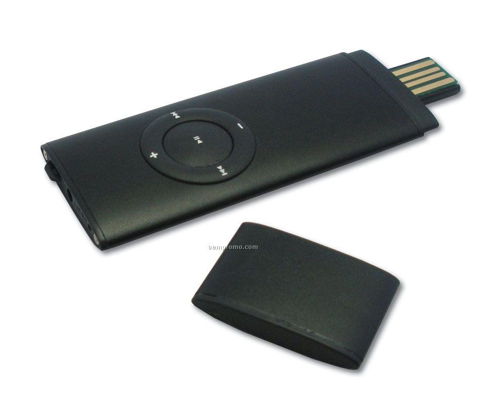 Slim Aluminum Mp3 Player W/ USB Drive (2 Gb)