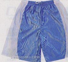 "Cool Mesh W/ Side Panels Adult Shorts W/ 9"" Inseam (S-xl)"