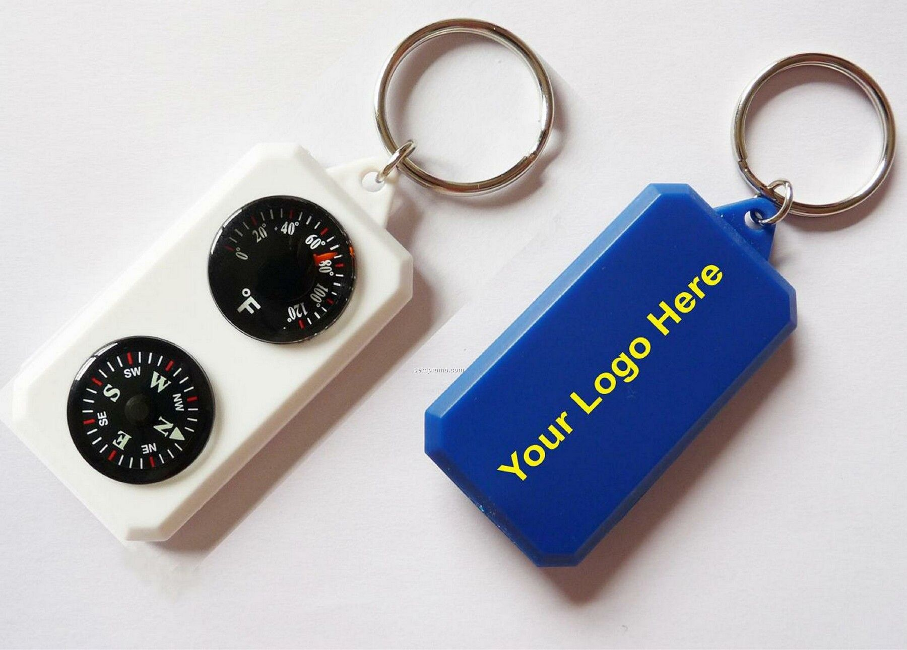 Key Chain With Thermometer & Compass