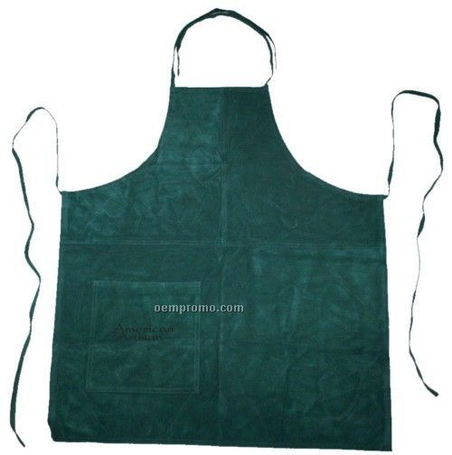 Suede Apron (Full Size) - Hot Branded (Hunter Green)