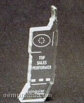 Cell Phone Acrylic Paperweight (Up To 12 Square Inch)