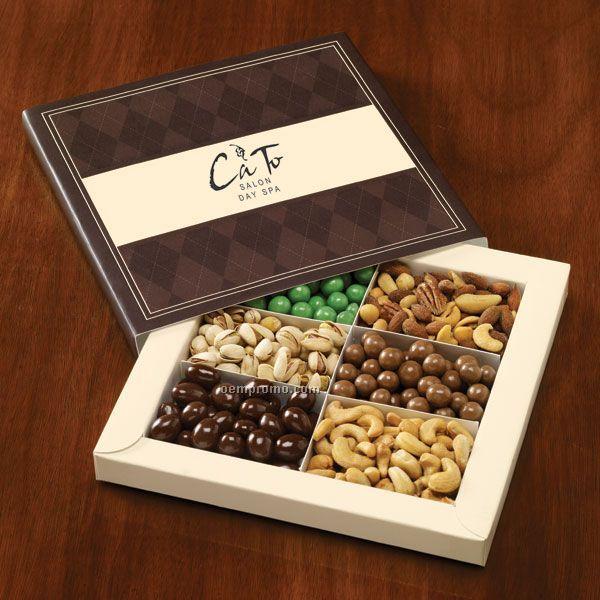 Diamond Gift Box W/ Snack Combo