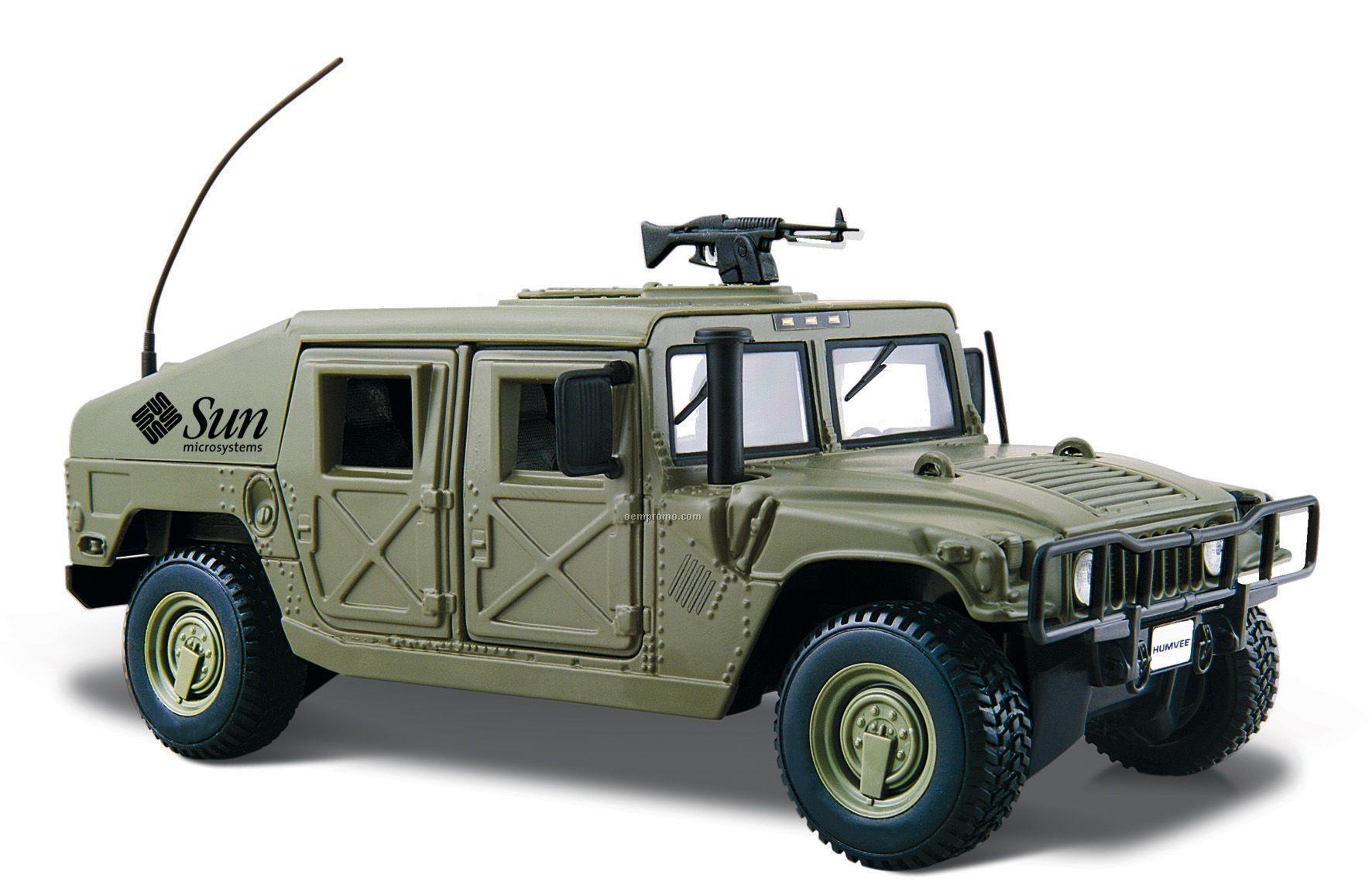 "7""X2-1/2""X3"" Military Green Humvee Die Cast Replica"