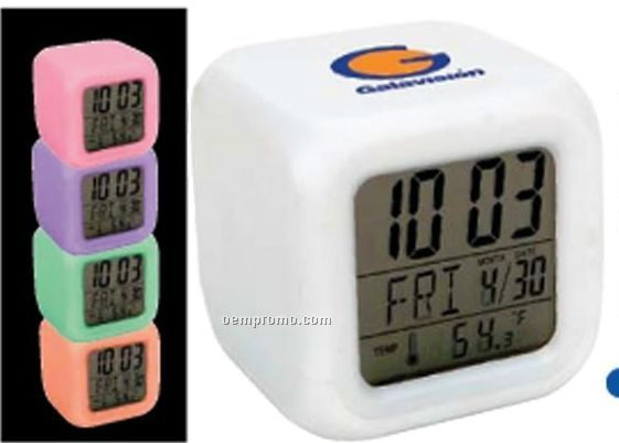 Color Changing Digital Alarm Clock